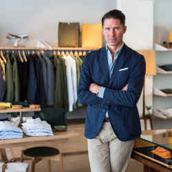 Trunk founder Mats Klingberg at the brand's new Zürich store