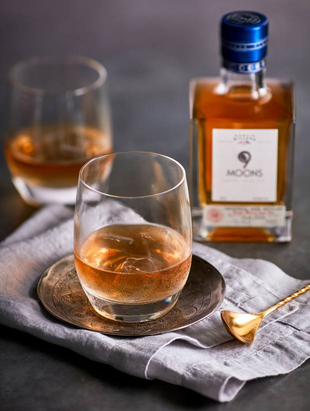 A citrus note and hint of vanilla mean 9 Moons works beautifully in cocktails such as the Old Fashioned