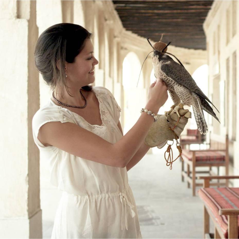 The falcon souq at Souq Waqif