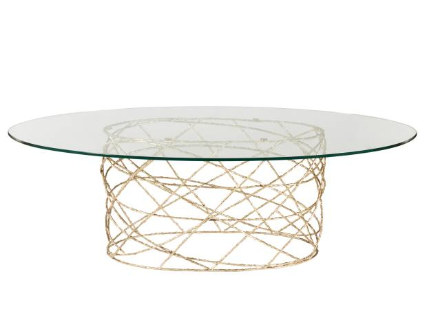 Ginger & Jagger brass and glass Rosebush dining table, from €13,530, from Carpenters Workshop Gallery