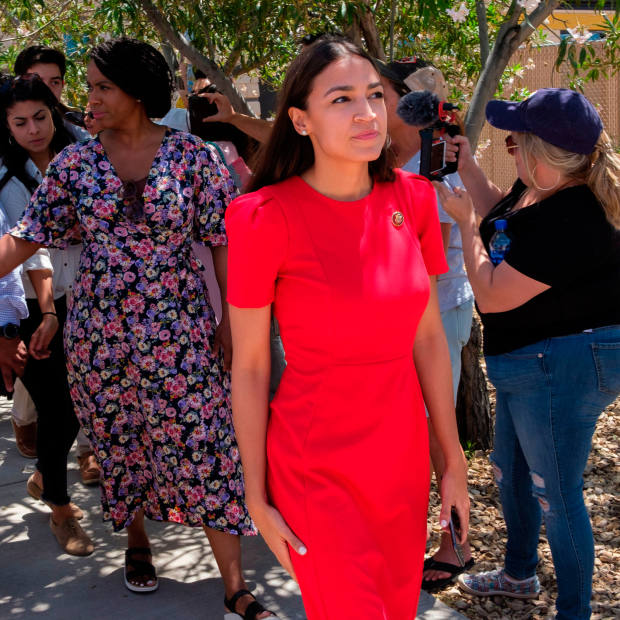 "At a tour of the Clint border patrol facility and detention centre in Texas: @AOC ""They confiscated my phone, and they were all armed. I'm 5ft4in."" July 1 2019"