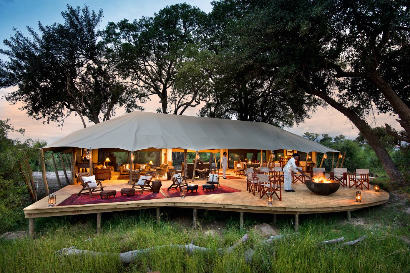 The Duba Expedition Camp in Botswana, part of the rebuilt Duba Plains Camp