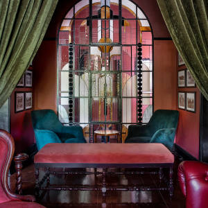 The feel at The Athletic Club & Social is clubby and maximalist