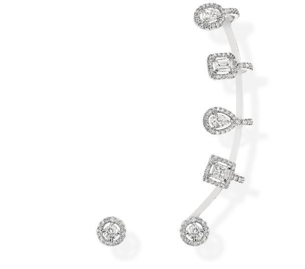 Messika white-gold and diamond earrings, £5,660