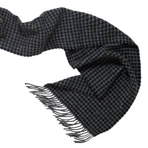 Hackett scarf in cashmere tweed, £250. Also in other colours