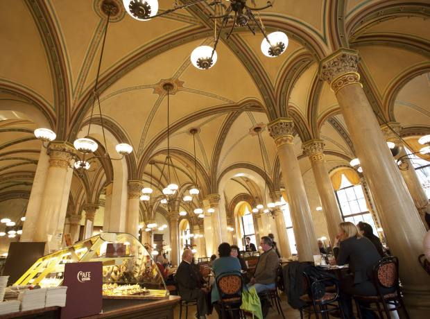 Café Central at Palais Ferstel, one of Vienna's most historically important cafés