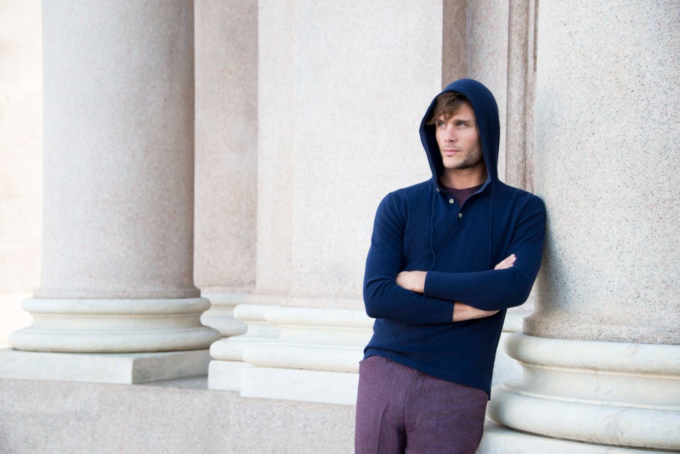 Luca Faloni navy blue cashmere hoodie, £265