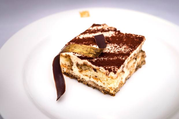 Daphne's signature tiramisu completes the three-course meal, £85 per person, including a welcome cocktail and wine