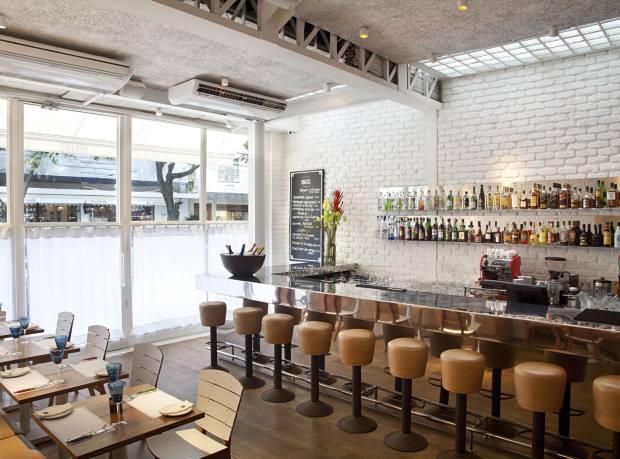 The bar at Brigite's in Leblon