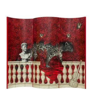 Fornasetti lacquered wood Don Giovanni screen, £14,750