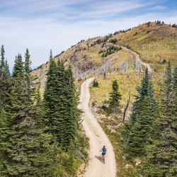 Day Two of IGO's Montana itinerary involves 60km of mountain biking, with a gruelling 800m ascent of Werner Peak