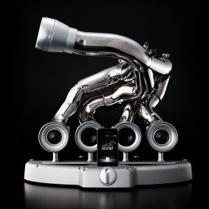 iXoost exhaust-pipe iPhone and iPod dock, from €6,950