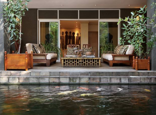 The Koi Terrace at Saxon Hotel, Villas and Spa