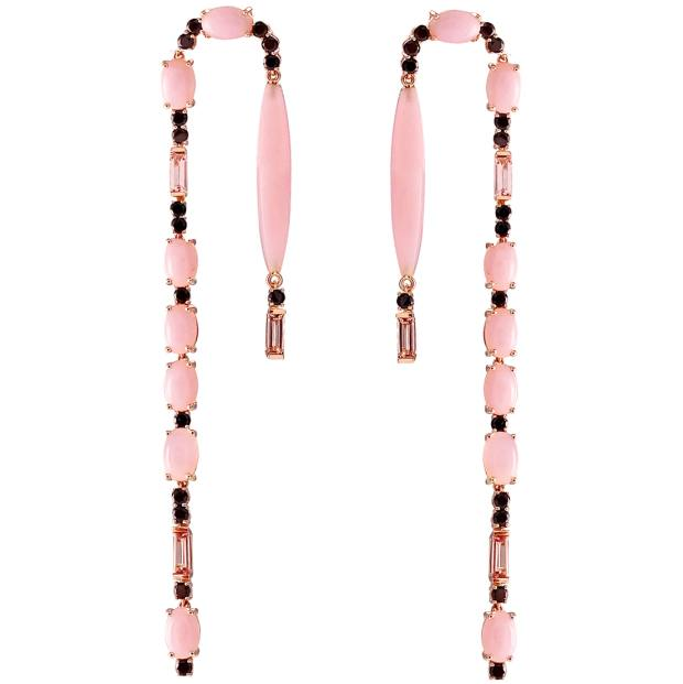 Joana Salazar rose gold and pink opal Joy earrings, $3,674