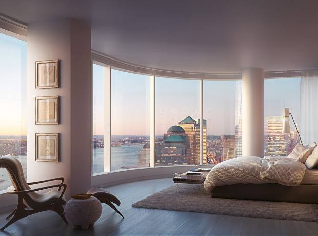 A bedroom at 50 West, where prices range from $1.83m to $18.63m