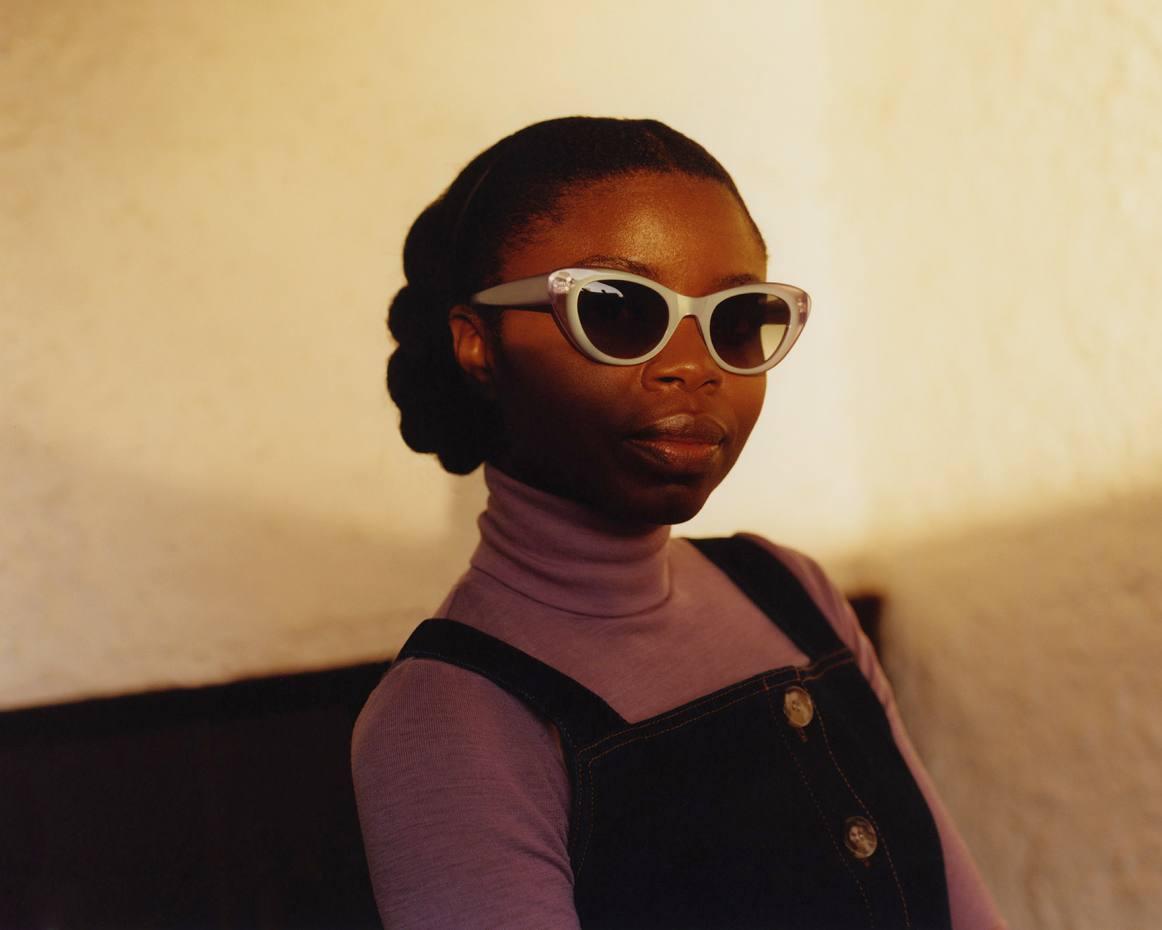 Fashion designer Rita Colson in Black Eyewear Alice sunglasses in Pastel Lilac, £187