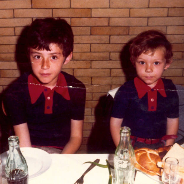 Ferran Adrià (on left) and brother Albert in 1971