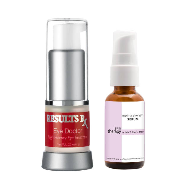 Results Rx Eye Doctor, £130 for 7ml. Julia T Hunter MD Maximal Strength Serum, £140 for 29.5ml