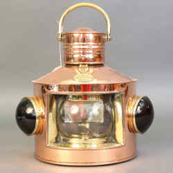 c1900 Davey & Co copper and brass oil lantern, $1,695 from Lannan Gallery