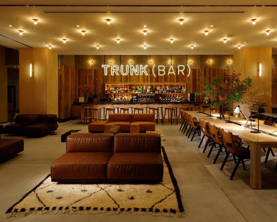 The lounge bar at Trunk Hotel