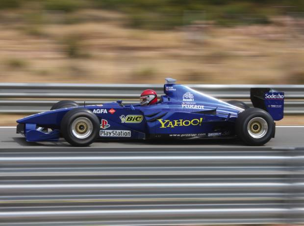 A Prost AP02 is just one of the Formula One cars that can be driven on the Var circuit.