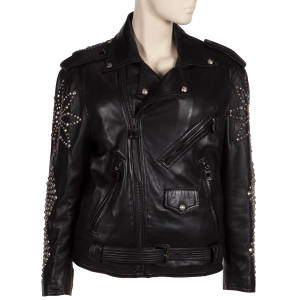 Lots include a silver-studded Versace biker jacket (estimate $4,000-6,000)
