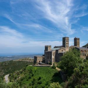 Former Benedictine monastery Sant Pere de Rodes in Catalonia
