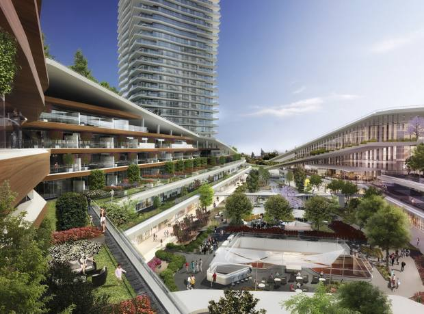 A rendering of the Zorlu Centre mall and residences, Istanbul; luxury apartments from $9,500 per square metre
