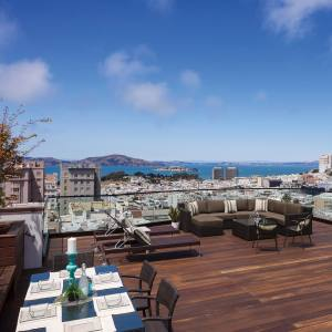 The roof deck of a five-bedroom Pacific Heights home in San Francisco, $15m through Sotheby's International Realty