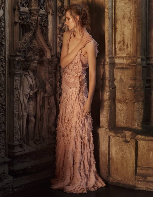 Alexander McQueen lace gown, made to order, price on request