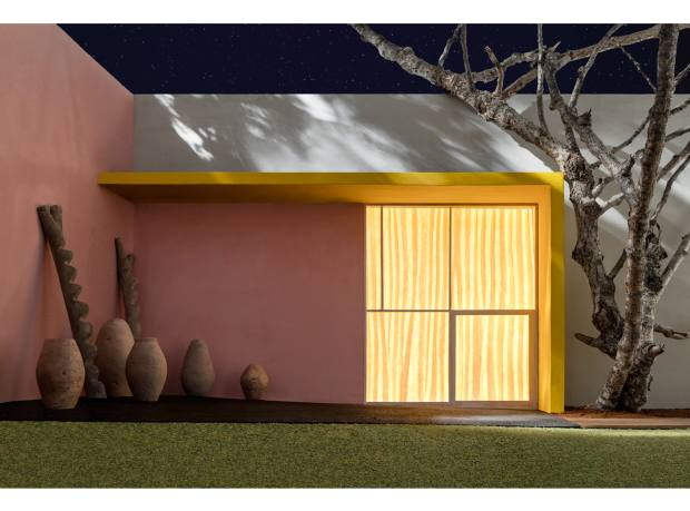 Yellow Overhang with Patio, by James Casebere, $50,000