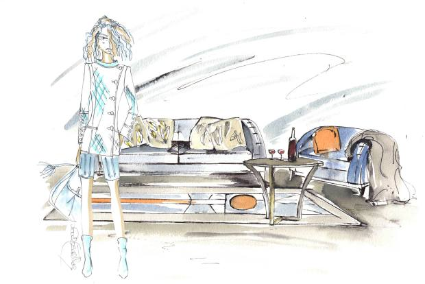 An illustration of Paul Costelloe's Chevrolet collection made by Ventura
