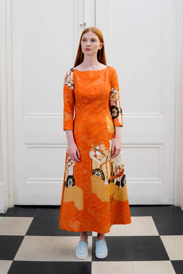 Eponine vintage kimono fabric dress, price on request