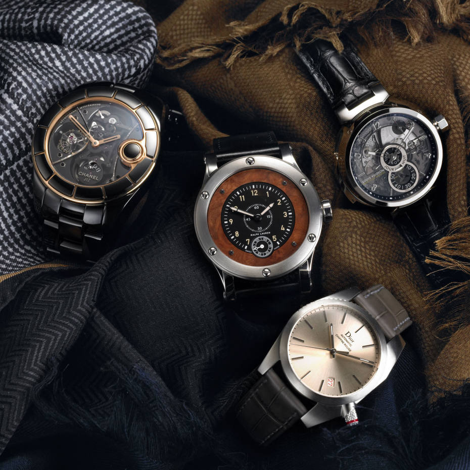 47044550c6b Clockwise from top left: Chanel Fine Jewellery's J12 Rétrograde  Mystérieuse, £168,000, on