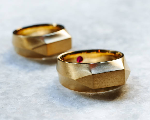 Roman and Williams 20ct-gold and ruby ring, $5,900 at Betroth