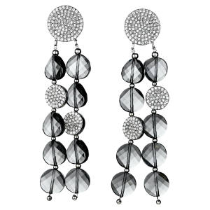 Atelier Swarovski by Iris Apfel palladium-plated and crystal Just Iris earrings, £249