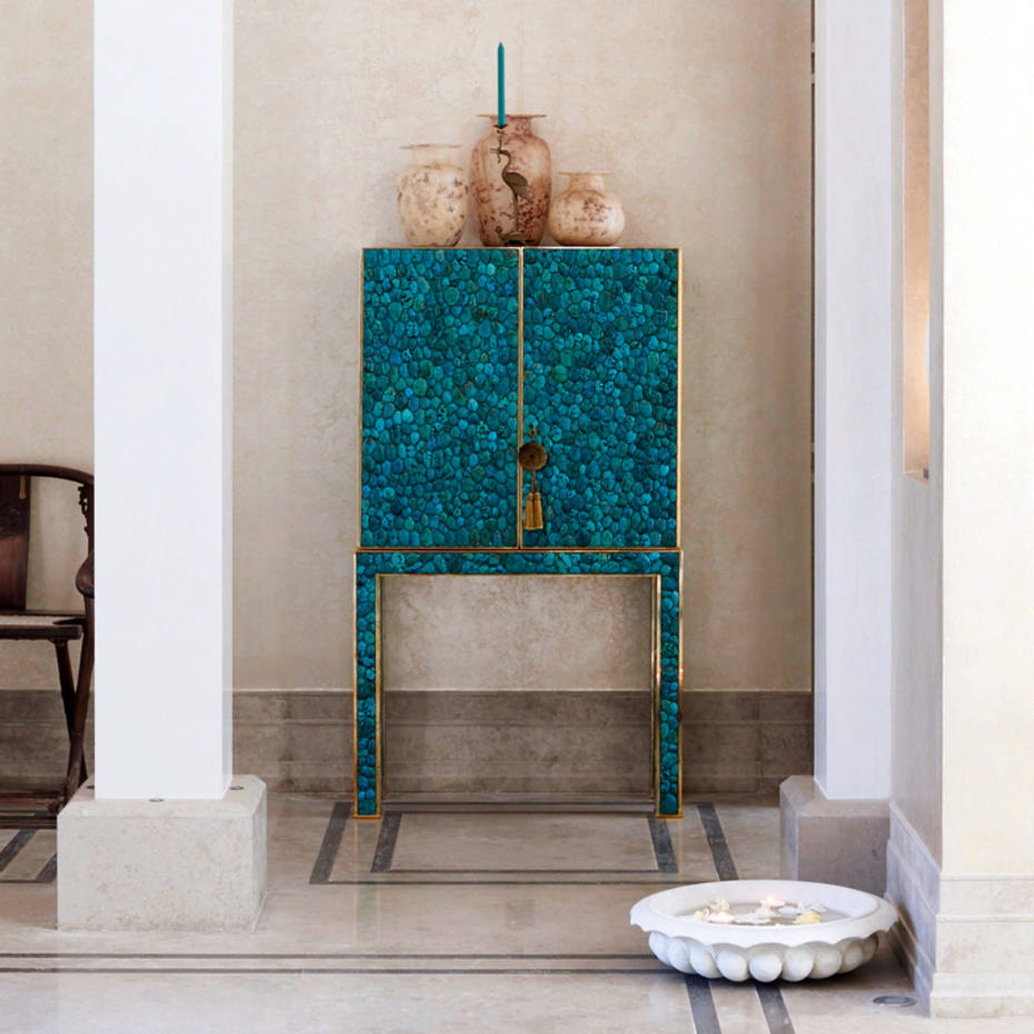 Kam Tin metal and turquoise cabinet, £145,000