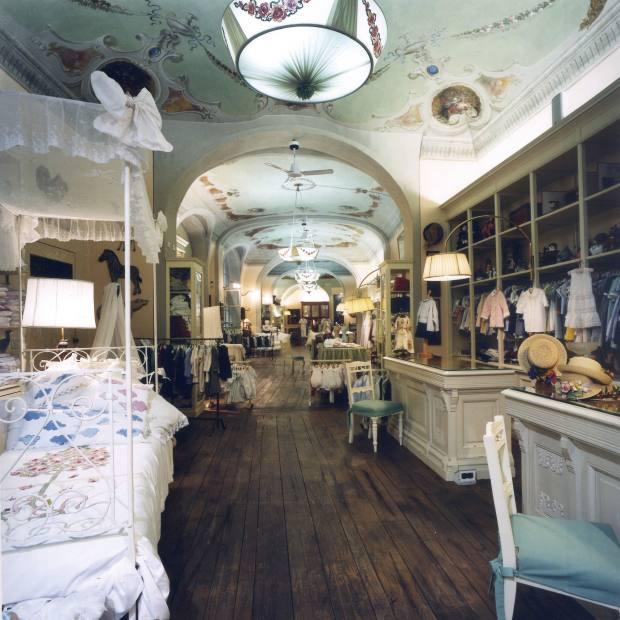 The interior of Loretta Caponi