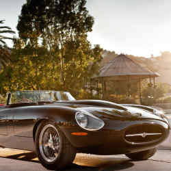The Eagle Lightweight E-Type Speedster in the South of France.
