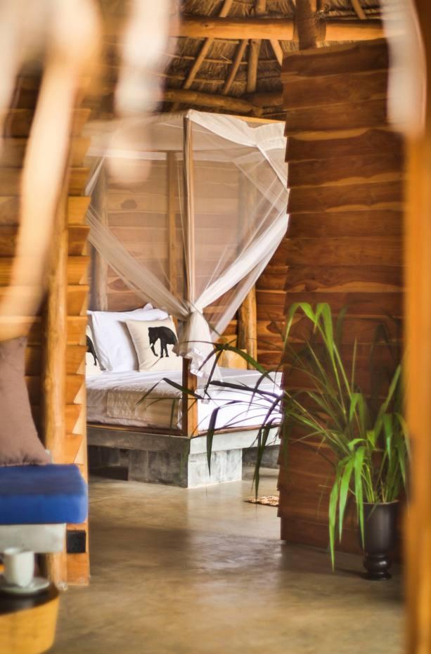 Inside one of the bungalows at Gal Oya Lodge, Sri Lanka