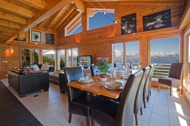 The five-bedroom Chalet Martini in La Tzoumaz, about £1,358,000 through Savills