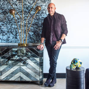 John Varvatos at his Fifth Avenue apartment