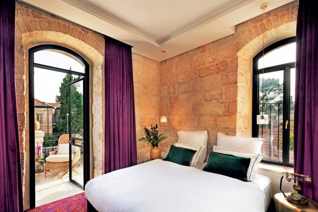 One of its bedrooms with private terrace