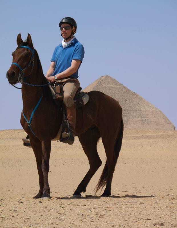 Tarquin and Wadi near the Red Pyramid, Dahshur.