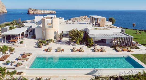The villa has an infinity pool and a spa plus its own resident DJ