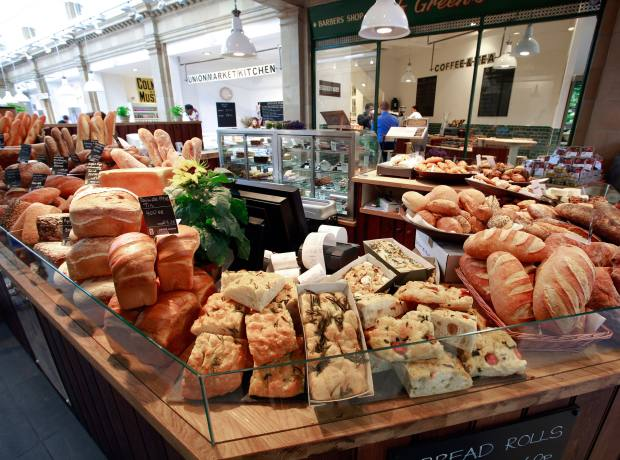 The bread counter at Union Market, Fulham