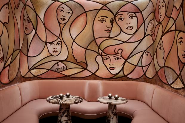 The snug at The Berkeley Bar & Terrace features a mural by artist TM Davy