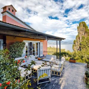 Bellini Villas' full-service hillside estate in Portofino has a lift that goes right down to the village
