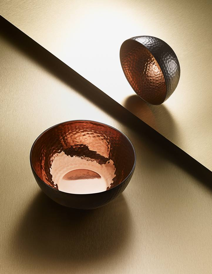 The Just Slate Company copper bowls, £30 for a set of two