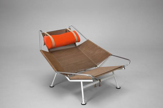 1960s Flag Halyyard chair by Hand J Wegner, €20,000, from Jacksons in Stockholm